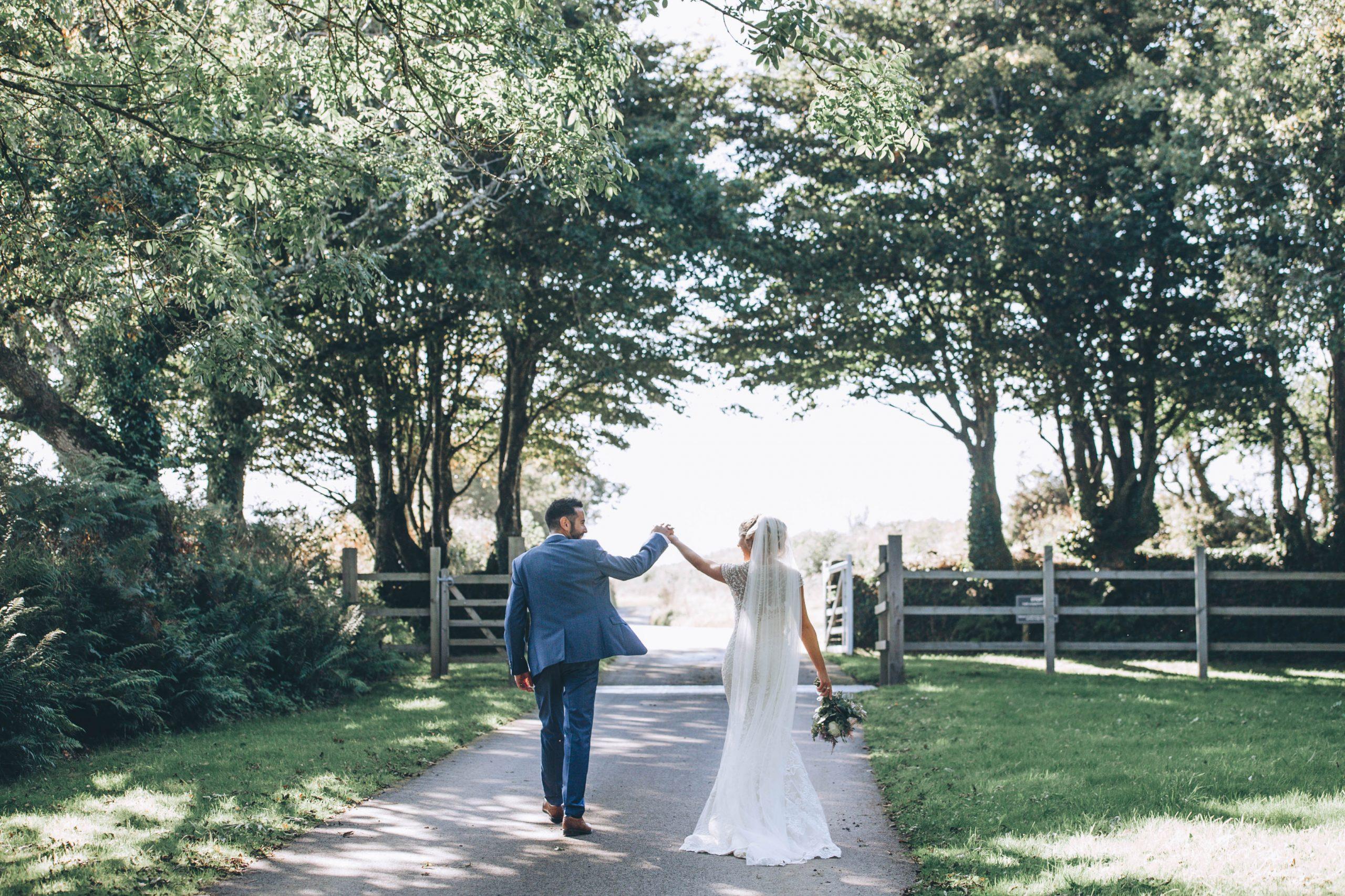 bride and groom trevenna
