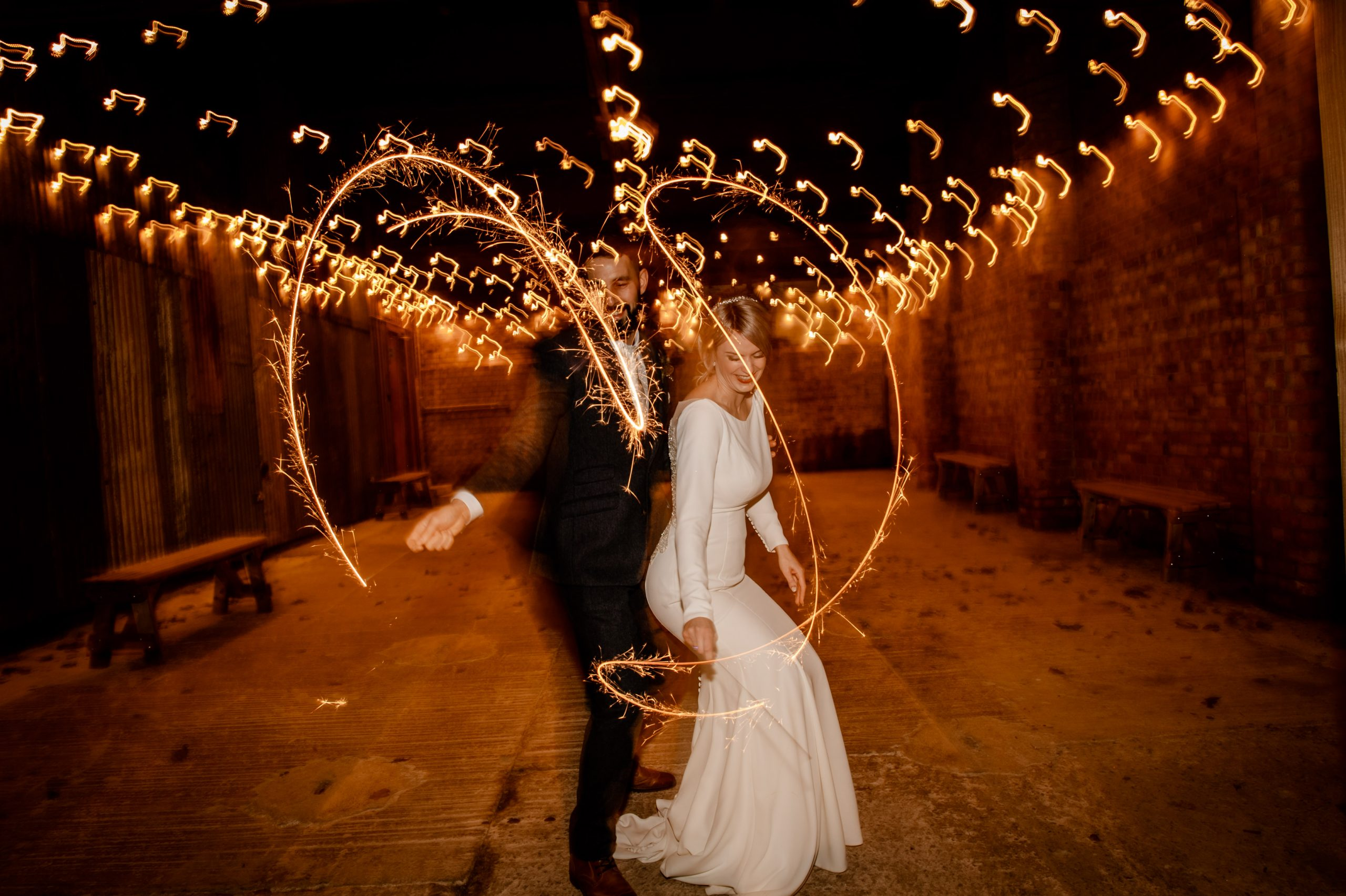 wedding sparkler photograph